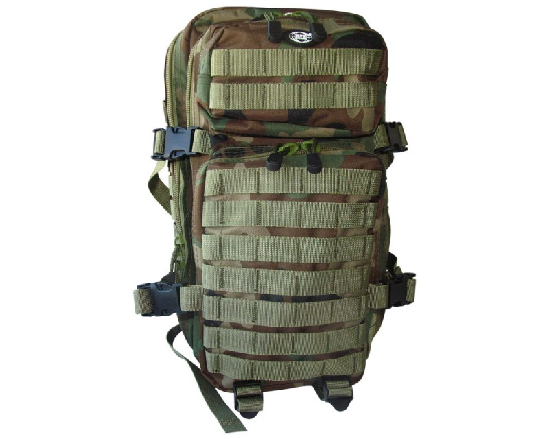 MFH batoh US Assault Pack 20 l, woodland