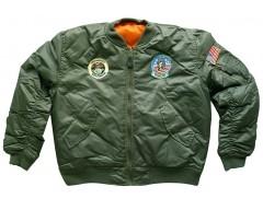 MIL-TEC Dětská bunda MA1, OLIV, bomber
