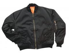 MIL-TEC Dětská bunda MA1, černá, bomber