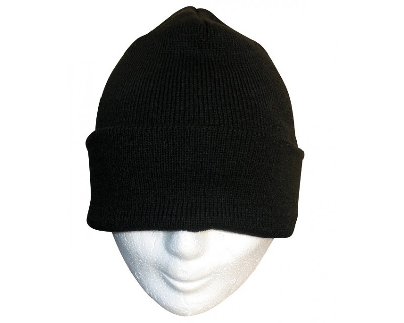 MIL-TEC Kulich černý, akryl, jemně pletený