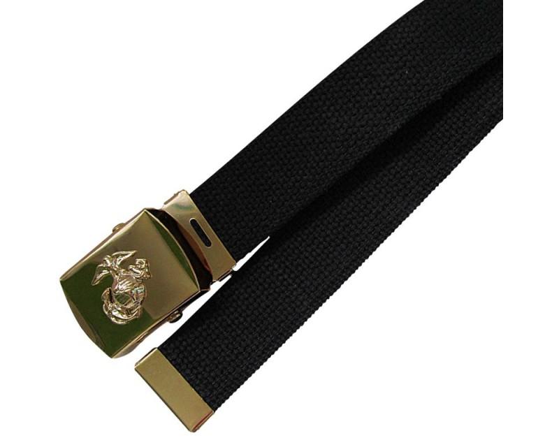 MIL-TEC Kalhotový opasek U.S. MARINE CORPS BLACK, úzký
