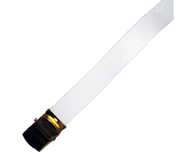 MIL-TEC Kalhotový opasek U.S. bílý, úzký