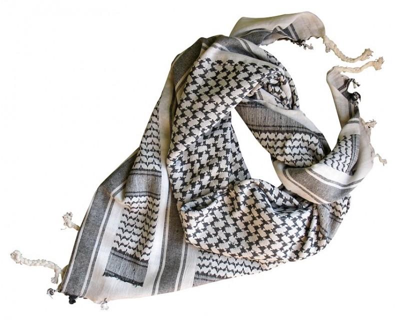 MFH Šátek Palestina bílá-černá s třásněmi - Vojenskyspecial.cz 5f6b367992
