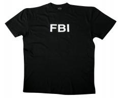 MIL-TEC Triko krátký rukáv, FBI, BLACK