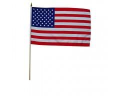 Vlajka s tyčkou USA, 30x45 cm